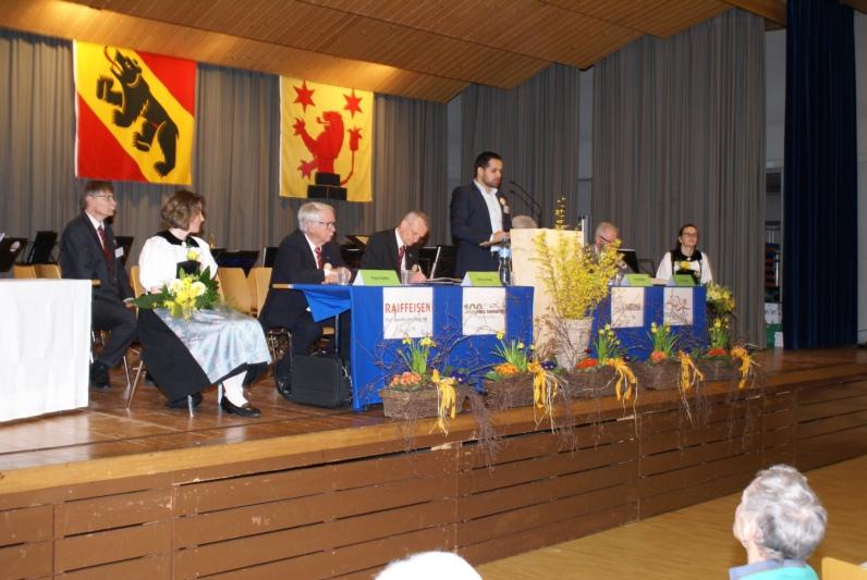 Gemeindepräsident Daniel Hodel bei seiner Rede. (Bilder: Hans Durand/zvg)