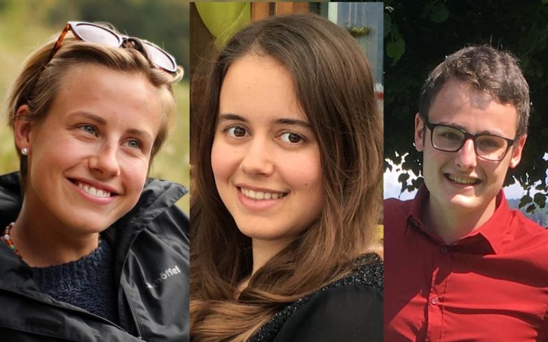 Auf in die Zukunft: Mira Reinhardt aus Konolfingen, Seraina Kaiser aus Rubigen und Jan Blaser aus Biglen haben diesen Sommer die Matura erfolgreich bestanden (Bilder: zvg)
