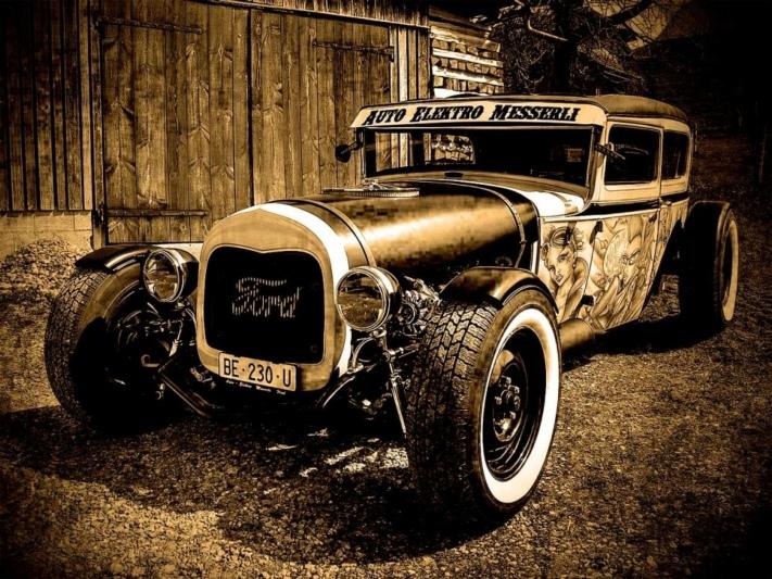 Hotrod 1930 Warson Motors Gulf Goodyear AC