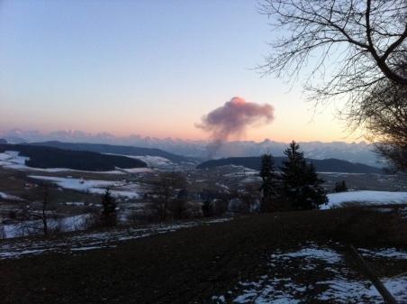 Der Brand - von der Gumm aus gesehen. (Bild: Samuel Wittwer)