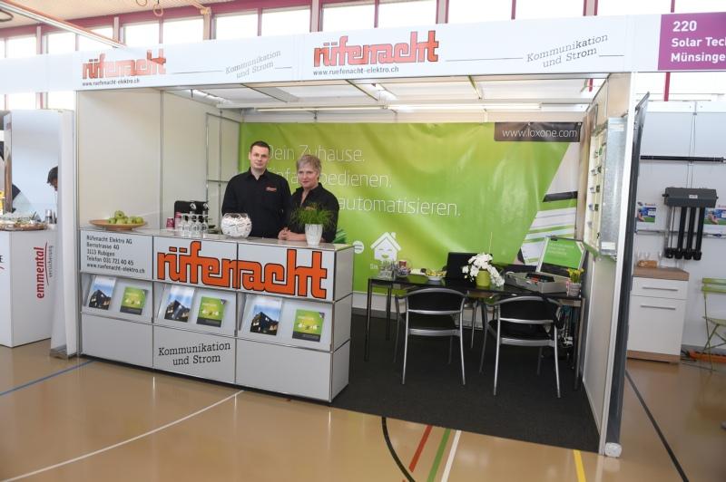 Rüfenacht Elektro AG mit Monika Marti und Reto Moesch.