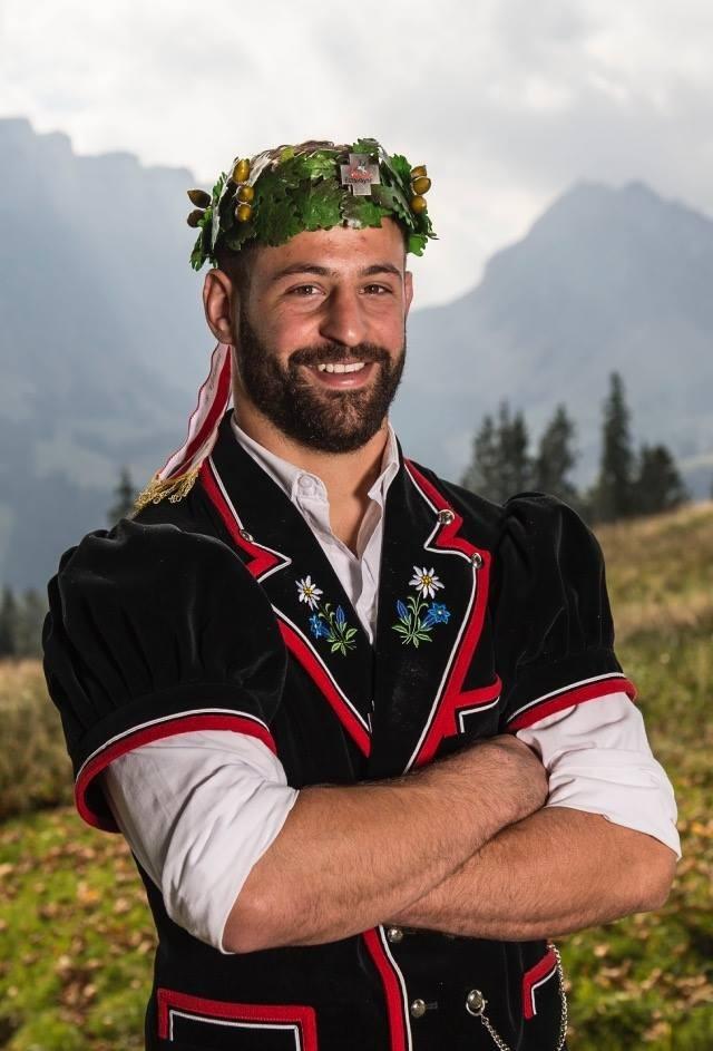 So kennen ihn die Schwingfans: Philipp Reusser ist 21-facher Kranzgewinner. (Bild: Rolf Eicher / zvg)