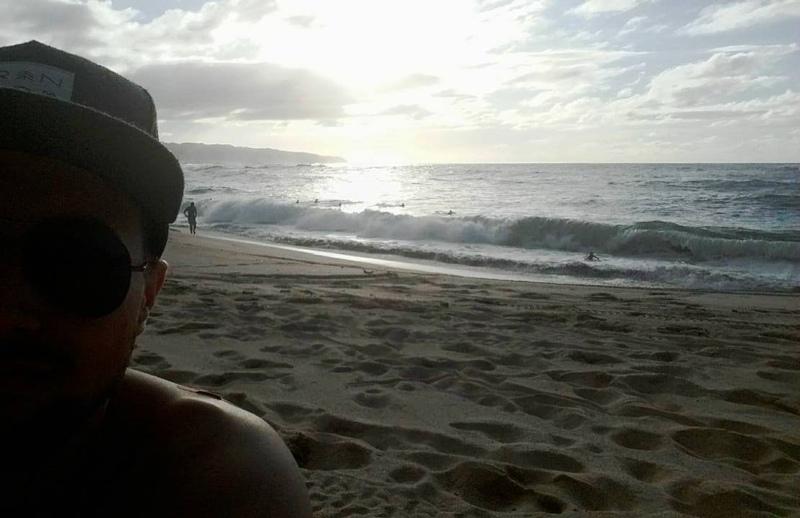 Nach der Arbeit gibt es noch einen Besuch am Strand...