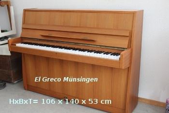 Klavier: Nordiska Futura2 Nussbaum-Mittel Fr. 950.- 3 Jahre Garantie. Miete pro Monat Fr. 15.- ohne Zinsbelastung, mit Kaufrecht.