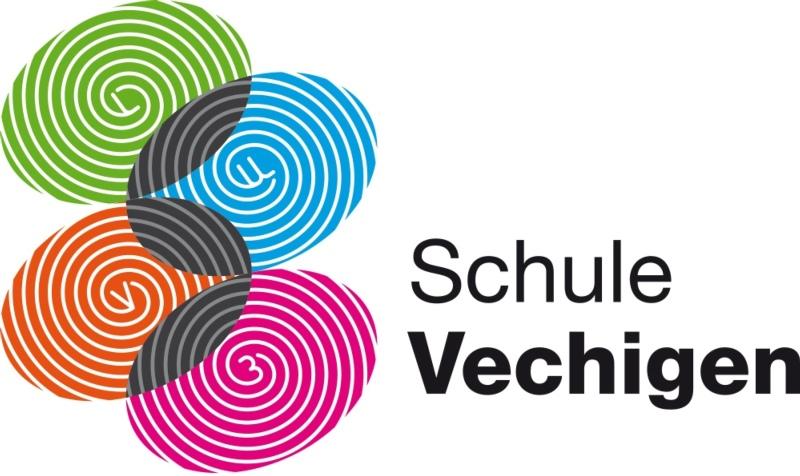 Die Farben symbolisieren die verschiedenen Standorte: Das neue Logo der Schule Vechigen. (Bild: zvg)