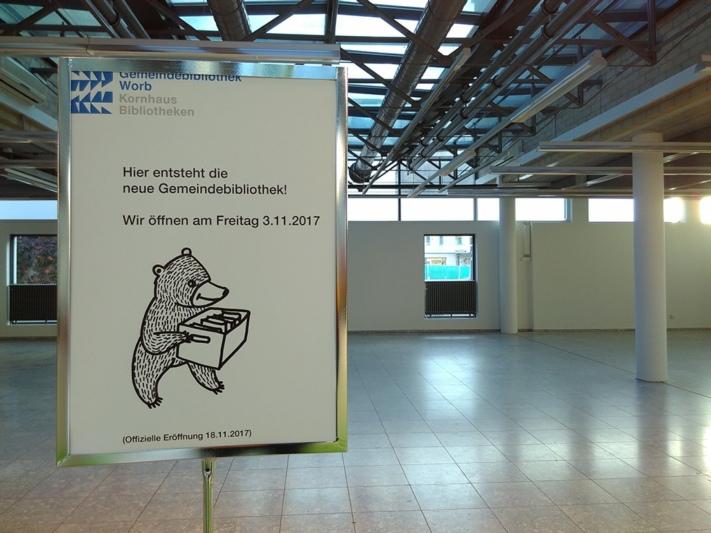 Bald der Treffpunkt der Worber Leseratten: Die Gemeindebibliothek zieht ins Bären-Zentrum. (Bild: Isabelle Berger)