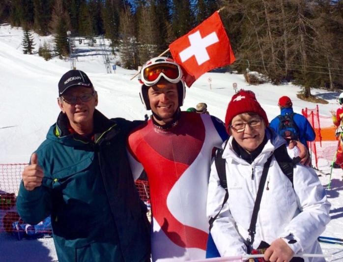 Seine Eltern Bernhard und Rita Steiner unterstützten Philipp vor Ort.