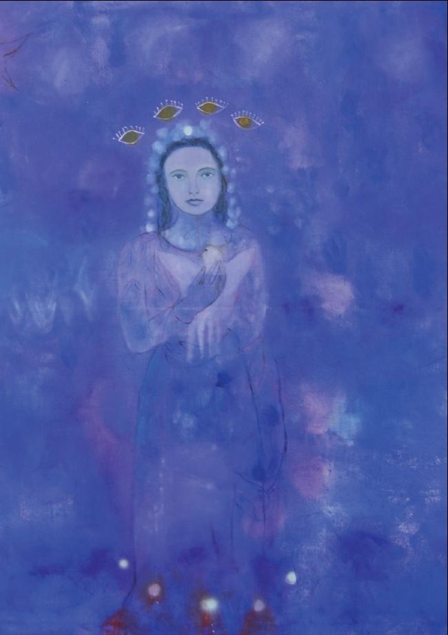 Entstanden aus dem Augenblick: Frauenporträt von Michaela Cerullo. (Bild: zvg)