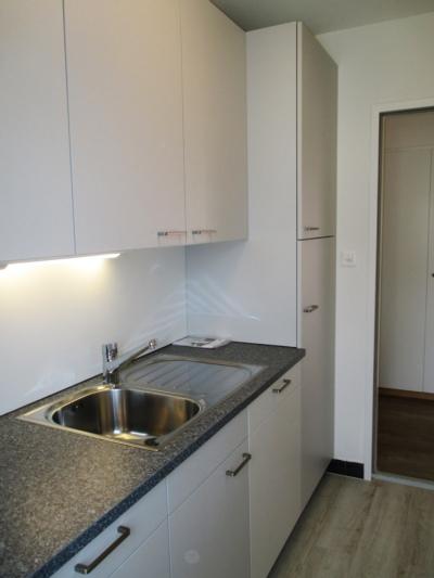 Neue Küche mit grossem Kühlschrank