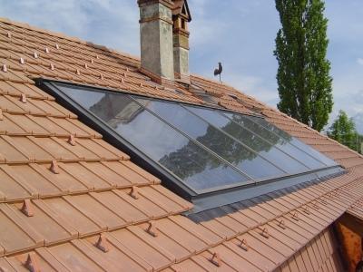Solaranlage INDACH für Warmwasseraufbereitung.
