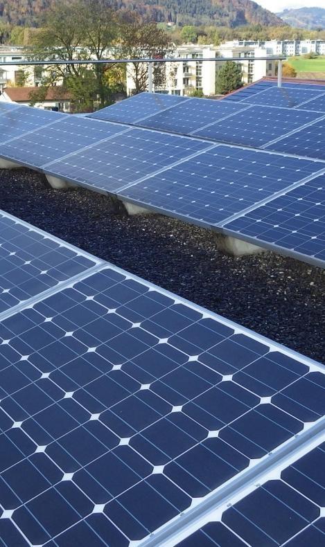Im Jahr 2016 hat die Solaranlage Schlossmatte knapp 20 000 kWh Energie produziert. Jedoch ist die Zahl der Ökostromkunden in Münsingen gesunken. (Foto: inframuensingen.ch)