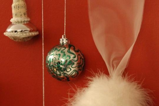 Außergewöhnliche Weihnachtskugeln.Kurs Weihnachtskugeln