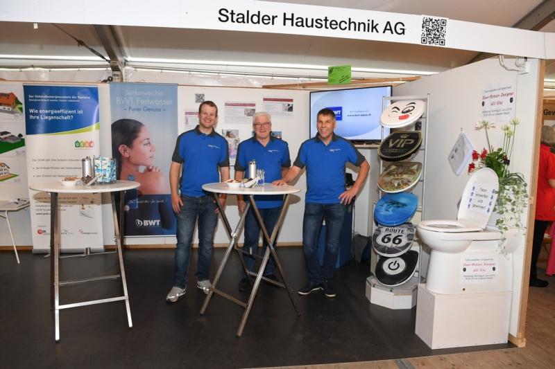 Stalder Haustechnik AG mit Thomas Mäder, Andreas Krähenbühl und Pius Stalder.
