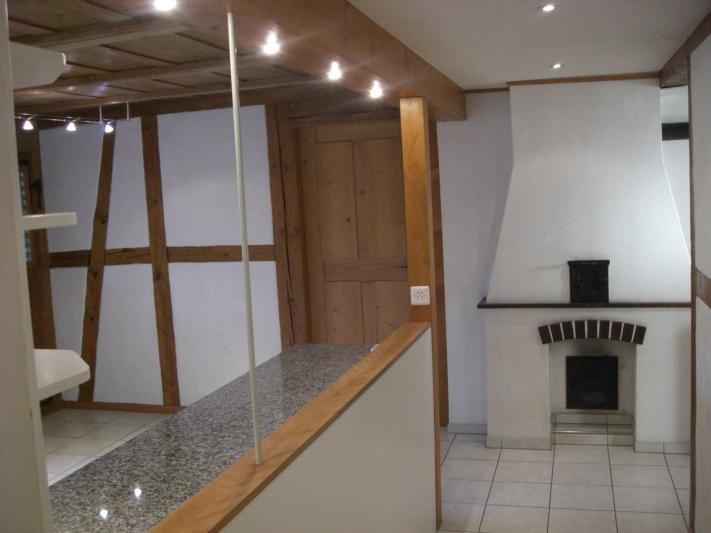 Blick vom Entré in die Wohnküche