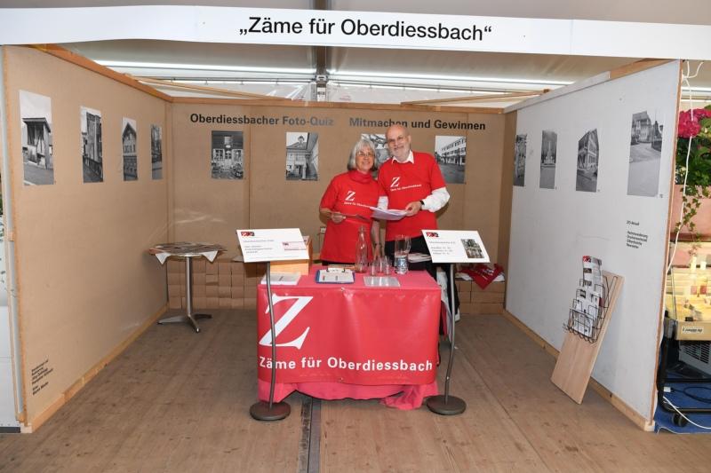 """""""Zäme für Oberdiessbach"""" mit Hanspeter und Barbara Schmutz."""