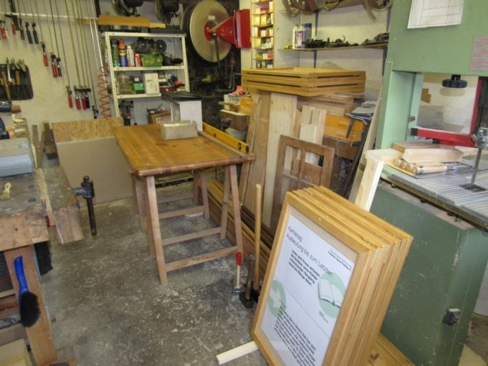 Ein Blick in die Werkstatt.