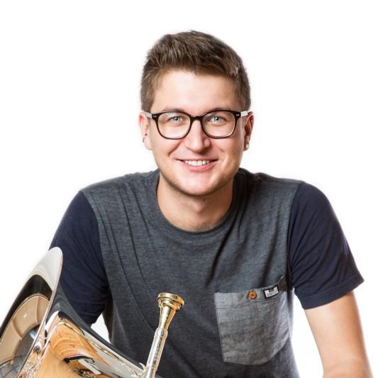Pascal Andres, Vollblut-Musiker und Euphonium, wird neuer Dirigent der MG Habstetten. (Foto: zvg)