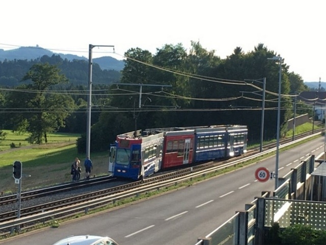 Am Mittwochabend ist kurz vor Worb ein Tram entgleist. (Bild: Leserreporter 20 Minuten)