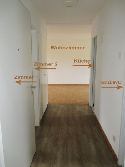 3.5-Zimmer-Wohnung: Korridor mit Wohnungsübersicht