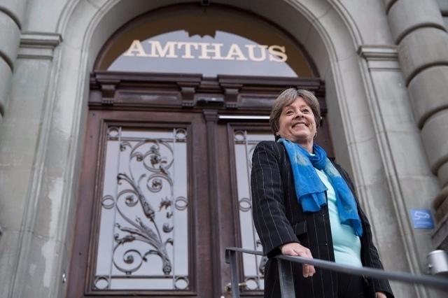 Vor der Urteilsverkündung hatte SP-Nationalrätin Margret Kiener Nellen noch gut lachen. (Bild: Beat Mathys)