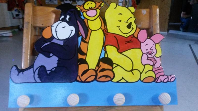 Pooh und seine Freunde 45.- inkl.3 Knöpfe