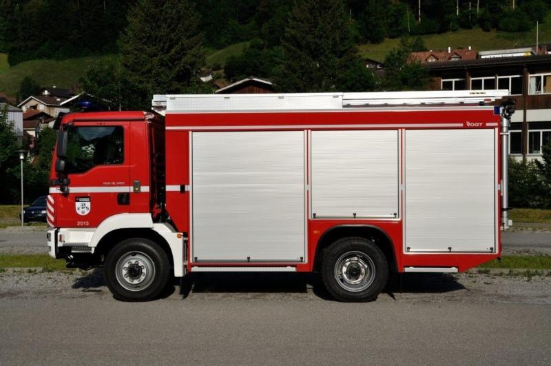 Im Gegensatz zum abgebildeten TLF (15 Tonnen) wiegen die bestellten TLF für Grosshöchstetten und Regio Gumm nur 13 Tonnen.