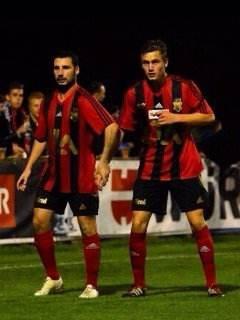 Luca Lavorato (links) und Nick Rothen 2014 im Cup-Spiel gegen den FC Wil. (Bilder: zvg)