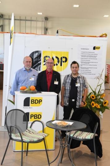 BDP Sektion Kiesental mit Peter Schär, Bernhard Guggisberg und Thomas Tellenbach.