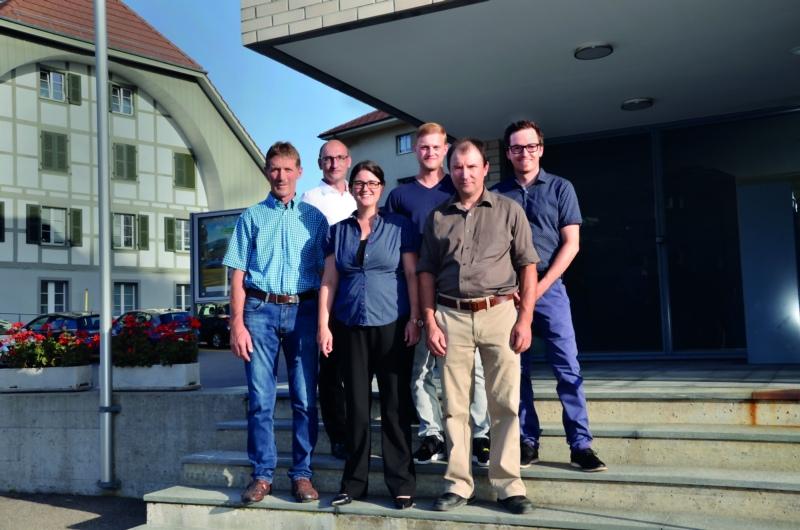 Stellen sich zur Wahl: Daniel Kaltenrieder, Daniel Hutmacher, Marc-Theodor Habegger (hinten v.l.n.r.), Bernhard Burren, Miriam Gurtner, Anton Kropf (vorne v.l.n.r.).