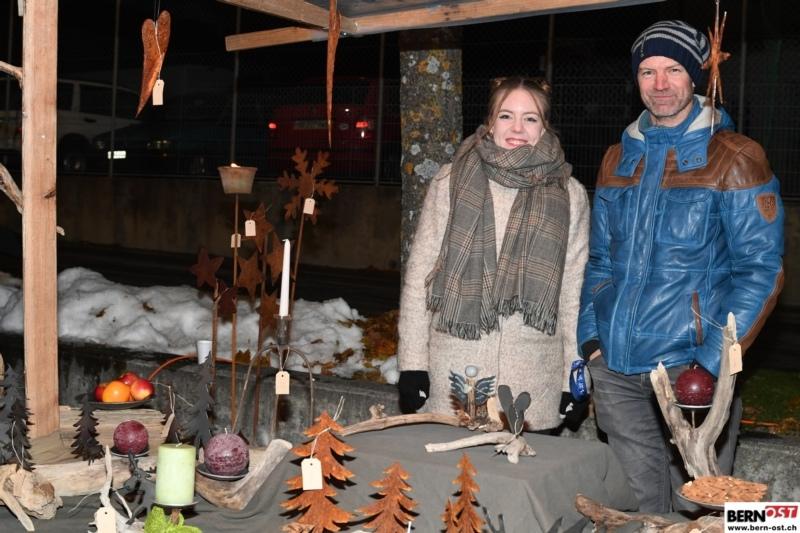 Kühl aber trocken: Der Weihnachtsmärit Bleiken fand dieses Jahr bei angenehmer Witterung statt. (Bild: Res Reinhard)