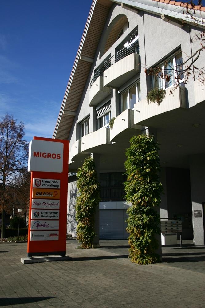 Das Vechiger Gemeindehaus und Einkaufszentrum. (Bild: Vechigen.ch)