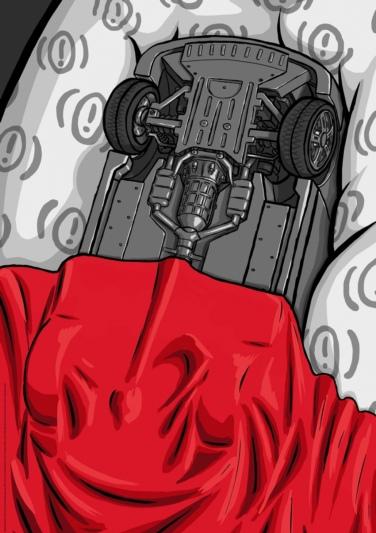 Entschleunigen: Damin Samsoodeens Plakat mit dem schlafenden Auto ist auf APG-Plakatwänden in der ganzen Deutschschweiz zu sehen. (Bild: zvg)