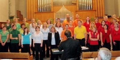Auftritt des SoundStream-Chors in der Kirche Unterseen (November 2009).