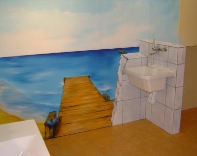 Kaum zu glauben, dies ist ein Privatbad.