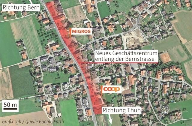 Die Grossverteiler kommen. (Bild: Grafik sgb / Berner Zeitung BZ)
