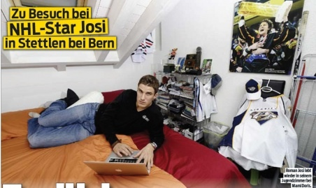 eishockey nhl star roman josi in stettlen endlich wieder familie. Black Bedroom Furniture Sets. Home Design Ideas