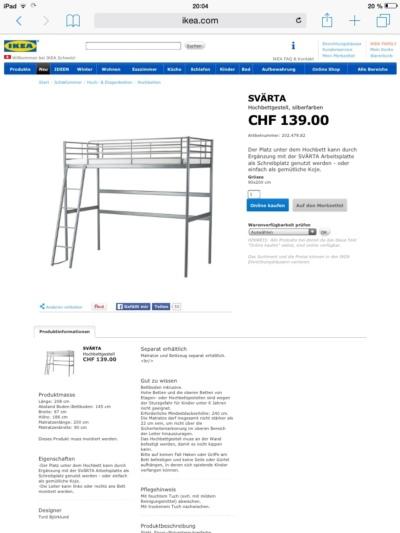 hochbett zu verschenken. Black Bedroom Furniture Sets. Home Design Ideas
