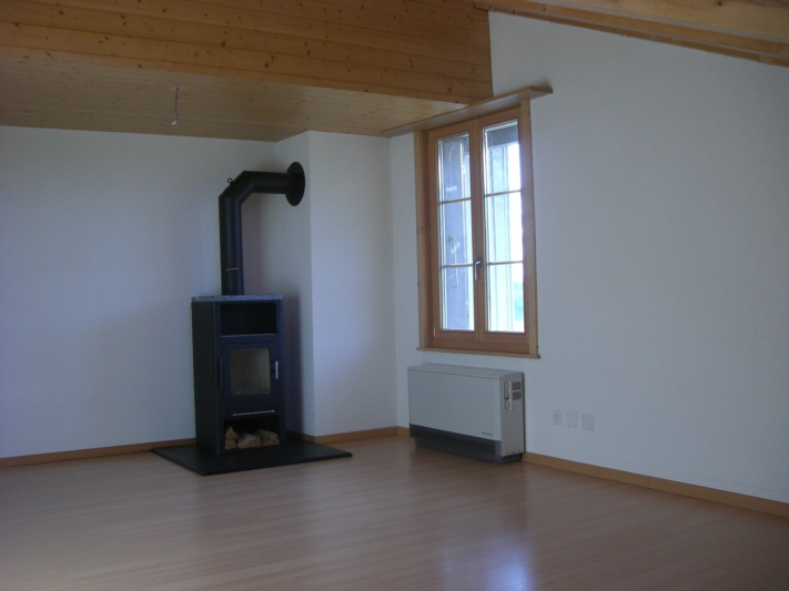 Zimmer 6 (siehe Plan) mit Schwedenofen und zusätzlichem Dachfenster