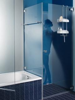 •Bequemer und breiter Einstieg dank ausgeklügeltem Design •Ausführung: 8 mm-Sicherheitsglas ohne Ausnahme •Beschläge: hochglanzpoliert oder nach Wunsch •Einsetzbar mit oder ohne Duschtassen