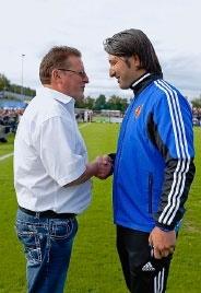 Die Trainer: Feuz mit Yakin, von dem er besonders viel hält.