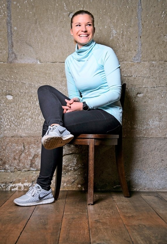 Selin Wüthrich ist begeisterte Läuferin. Ihr diesjähriges Ziel ist der Jungfraumarathon im September. (Bild: Raphael Moser)