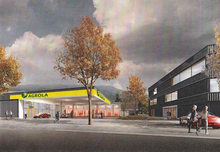 So soll die geplante Tankstelle aussehen. (Bild: rollimarchini / zvg)