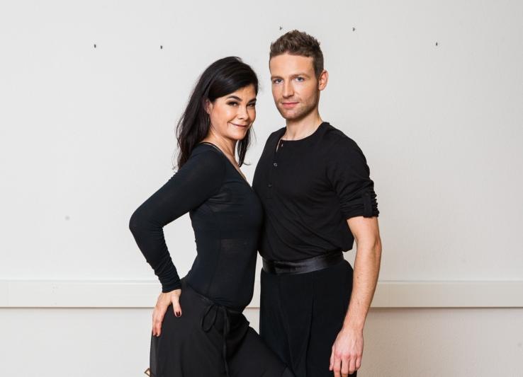 Marc Aeschlimann mit Tanzpartnerin Tonia Maria Zindel bei den Proben (Fotos: SRF)
