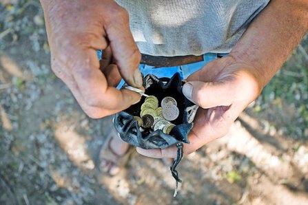 Das Portemonnaie ist nie leer. Beni Doyon ist zufrieden mit seinem Einkommen und sagt: «Ich verdiene gut.»