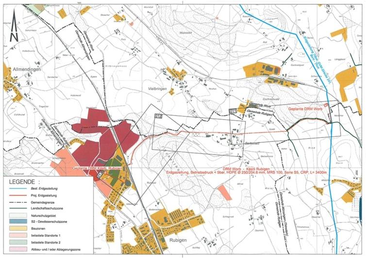 Von Worb SBB zur Berag in Rubigen: Die neue Erdgasleitung der Energie Thun wird 3,4km lang. (Bild: zvg)