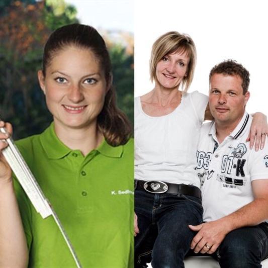 Kathrin Sedlmeier (links) von Gartenpflanzen Daepp Münsingen und Markus Hofer (hier mit Frau Therese) von Hofer & Baumann Gartenbau. (Bilder: zvg)
