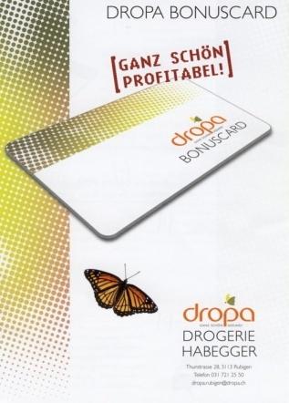 Ihre Vorteile überwiegen: die beliebte DROPA BONUSCARD (Kundenkarte)
